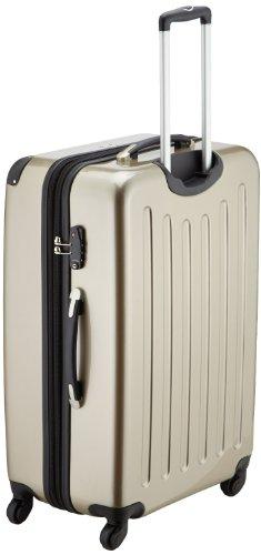 HAUPTSTADTKOFFER® 2er Hartschalen Kofferset · 2x Koffer 74 Liter (63 x 42 x 28 cm) · Hochglanz · TSA Zahlenschloss · APFELGRÜN Champagner