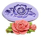 DIVISTAR - Stampo in Silicone a Forma di Fiore, per Decorazioni Fai da Te, per Pasta di Zucchero, Resina, Pasta di Zucchero, Pasta di Zucchero