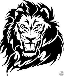 Online Design Lion Sticker Decal Car Bike Van Truck Motor Home