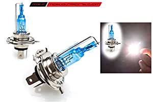 MSX MOTOSPORT Tech Hardy Racing Project Xenon HID Type Halogen White Light Bulbs H4 For Bike ( Set of 2)