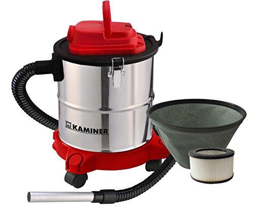 Kaminer - Aspiradora de Cenizas Aspirador de Cenizas Filtro Chimenea 20l 1200w Filtro hepa...