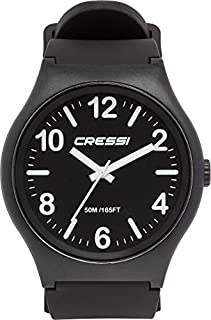 Cressi Watch Echo, Orologio Analogico Impermeabile 5 ATM Unisex, Nero/Nero/Nero, Unica (B07D877HFG) | Amazon price tracker / tracking, Amazon price history charts, Amazon price watches, Amazon price drop alerts