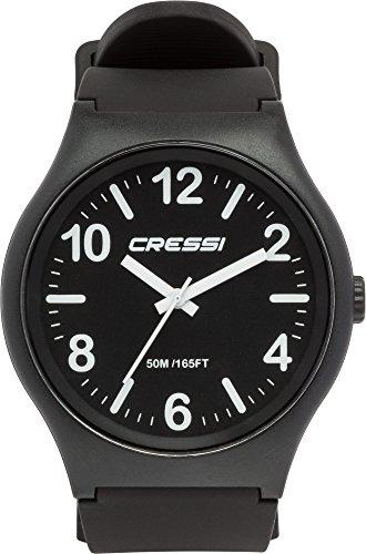 Cressi Watch Echo, Orologio Analogico Impermeabile 5 ATM Unisex, Nero,...