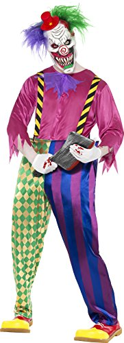 Halloween Kostüme Albtraum (Killerclown Clown Saw Horror Kost�m Kolorful Klown Gr)
