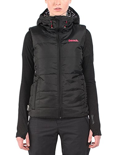 Bench Damen Sport Weste Warm As Pie, Gr. Xs, Schwarz (Jet Black)