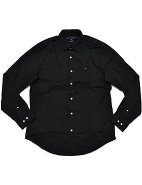 Tommy Hilfiger Herren Hemd custom Fit schwarz Größe L