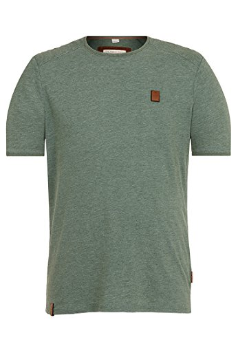 Naketano Male T-Shirt in der Genitalunion Heritage Pine Green Melange