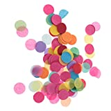 Best Confettis - NF&E 1000pcs/Pack Romantic Wedding Birthday Scatters Multicolor Circle Review