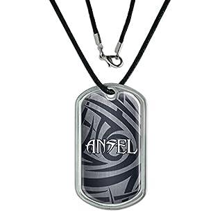 Dog Tag Pendant Necklace Cord Names Male Al-Ap - Ansel