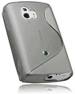 mumbi TPU Silikon Hülle für Sony Xperia Mini ST 15i, transparent