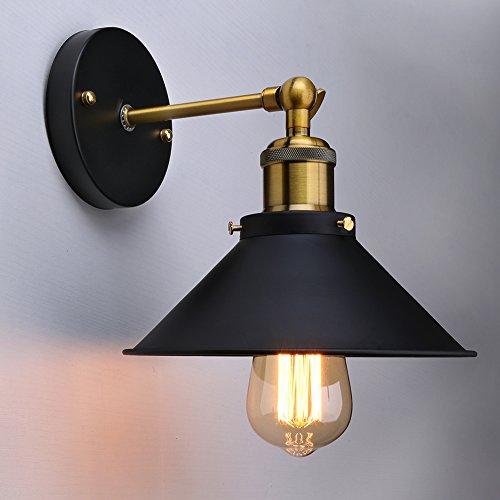Eletorot Doppie sfumature della parete doppia dell'annata Industriale Edison Simplicity Sconces luce di montaggio per l'arredamento domestico senza lampadina