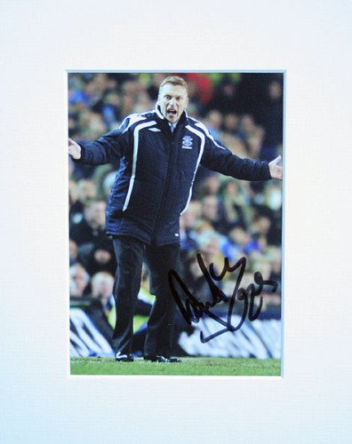 DAVID MOYES EVERTON FC SIGNED AUTOGRAPH PHOTO PRINT IN MOUNT