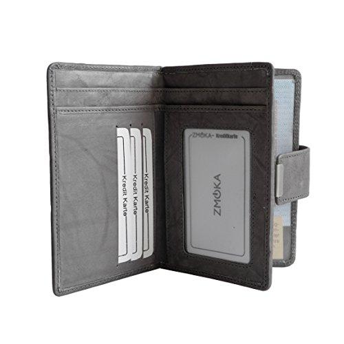 Jennifer Jones classico medio formato donna di cuoio della borsa del portafoglio - presentato da ZMOKA® in vari colori., Chianti-Rust (arancione) - 0 Grau