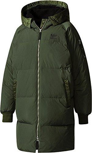 adidas Long Bomber W Mantel night cargo (Adidas Mantel Jacke Frauen)