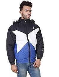 Derbenny Black And Royal Nylon Jacket For Men