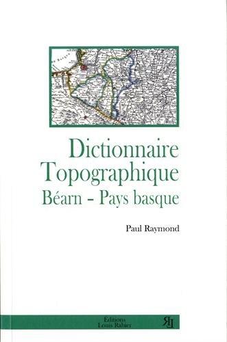 Dictionnaire topographique Béarn, Pays basque