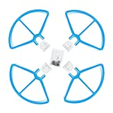 """Hensych Propeller Protector Guards 9"""" Inch Snap on/off Prop Guards 2x Red 2x White Quick Release Quadcopter Drone Propeller Guards by Hensych"""