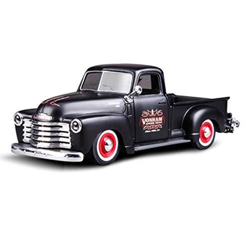 XINGPING-TOY 1:25 1950 Chevrolet 3100 Camioneta Pickup Modelo de Coche de Metal Simulación Aleación Original Fábrica (Color : Negro)