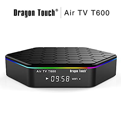 Dragon Touch Air TV T600 Smart Android TV BOX 4K Android 6.0, Amlogic S912 Octa Core 2GB DDR3 16GB EMMC Flash, 2.4G/5G Dual WIFI Band 1000M LAN Ethernet Bluetooth 4.0 3D Streamming Media Player