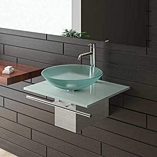Alpenberger Frosted Glass Bathroom Basin Sink With 120, Series for Furniture/Cabinet for Glass Bathroom Sink and Bathroom Glaswaschtisch