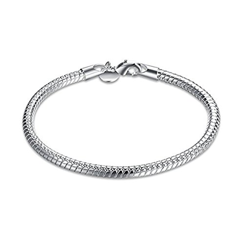 Capable Armband Figaro Aus 925 Silber Rhodiniert 19cm Fine Jewelry Bands Without Stones