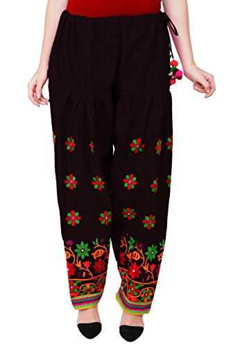 Vastraa Fusion Women\'s Cotton Bottom, Free Size (Black, VASTRAATS0032)