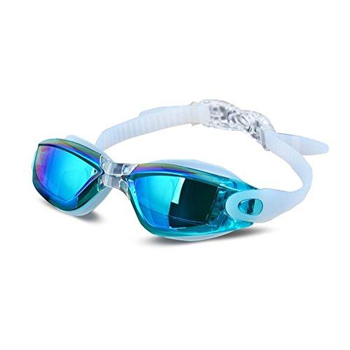 - Seturrip - Galvanik UV wasserdichte Anti Nebel Swimwear Brillen Schwimmen Tauchen Wassergläser Gafas Einstellbare Schwimmbrillen Frauen Männer [blau]