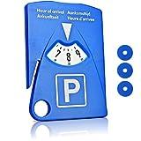 Motoscale - Disco orario per auto 4 in 1, con porta biglietto del parcheggio, coltello per cintura di sicurezza e gettoni per carrello della spesa
