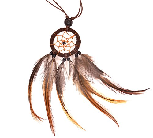 Collar sensor de ensueño Dream Catcher plumas Adorno colgante de Necklace negro dreamcatcher Attrapeur sueños de atrapasueños