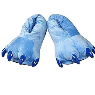 Autek Kinder junge Erwachsene niedliche Tier Unisex Strampler Kostüm Schlafanzug Schuh Claw Fuß für Stitch Dragon blau (M)
