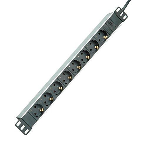 ROLINE 19071622 48,26 cm (19 Zoll) Steckdosenleiste 8-Fach und C14-Stecker, 2m Aluminium