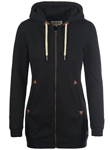 DESIRES Liki Straight-Zip Kapuzenjacke, Größe:L;Farbe:Black (9000)