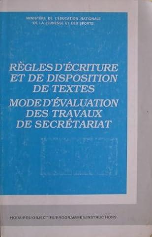 Ministere De L Education Nationale - Règles d'écriture et de disposition de textes.