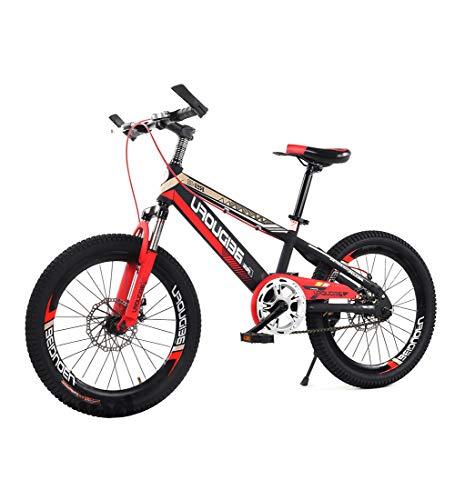 SJSF Y Kinderfahrrad Rennräder Fahrrad Einzelne Geschwindigkeit 16/18/20 Zoll Rad BMX Freistil Mountainbike Doppelscheibenbremse Stoßdämpfung Kind Fahrräder Rot,16inch -