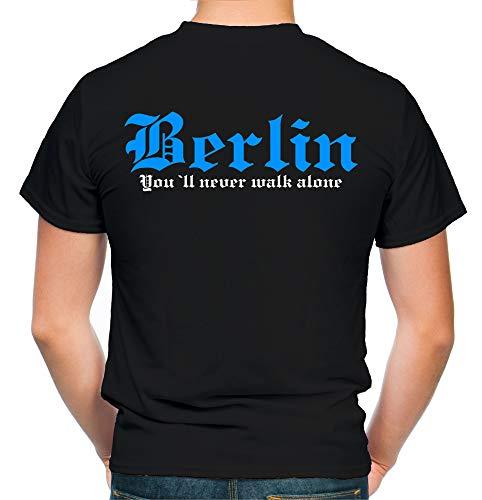 Berlin Kranz T-Shirt | Liga | Trikot | Fanshirt | Bundes | M2-blau (S)