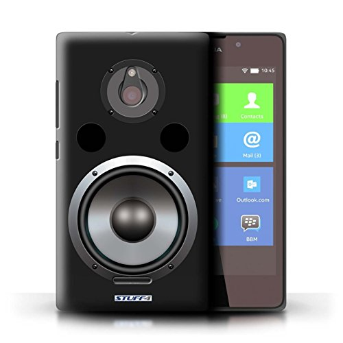 Kobalt® Imprimé Etui / Coque pour Nokia XL / Autoradio conception / Série Haut-Parleur dessin Hifi