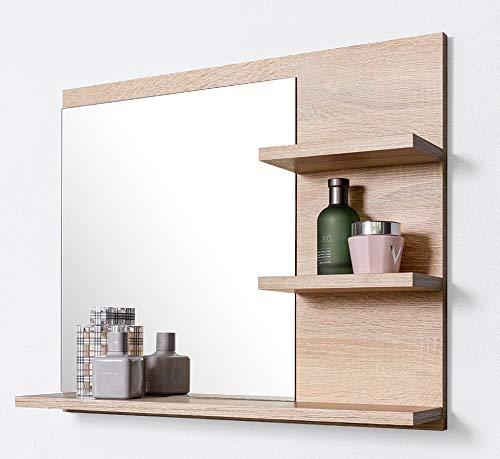 DOMTECH Badspiegel mit Ablagen, Badezimmer Spiegel, Wandspiegel, Badezimmerspiegel -