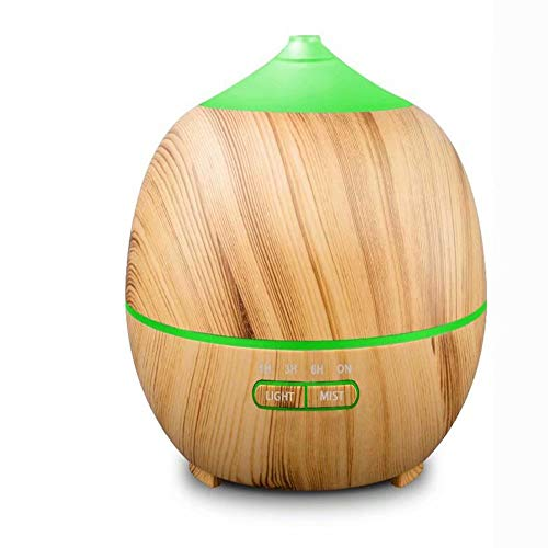 GG-humidifier Holz Korn Aroma Luftbefeuchter 400ml Hause stille Ultraschall Bunte Duftlampe - Gg Korn