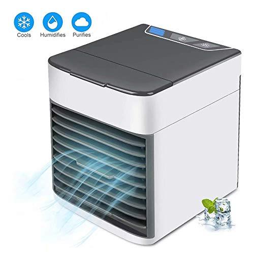 3-in-1 Mini Luftkühler Luftbefeuchter Luftreiniger, USB Tragbare Air Cooler Mit 7 Farben 3 Lüftergeschwindigkeiten Super Wind Speed Mobile Klimageräte Für Home Office Draussen, Zuhause