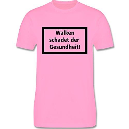 Laufsport - Walken schadet der Gesundheit - Herren Premium T-Shirt Rosa