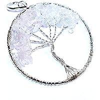 Pendant Rose Quartz 2-2.5 inch +7 CHAKRA TUMBLE Necklace Handmade Chakra Gemstone Jewelry Healing Crystal. preisvergleich bei billige-tabletten.eu