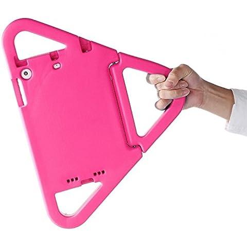 Wkae Cover Eva Custodia Protettiva Bumper Triangolo Portatile con manico e holderfor iPad Mini 1/2/3(colore: magenta)