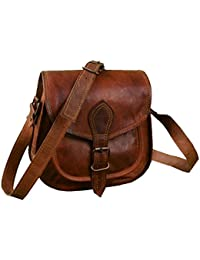 Brown Leaf Real Genuine 100 % ORIGINAL Leather Vintage Messenger Shoulder Bag Sling Bag Ladies Satchel