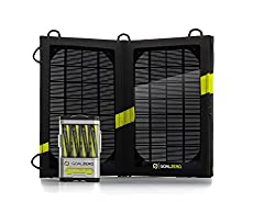 Goal Zero Guide 10 Plus Solar Recharging Kit with Nomad 7 PanelDescription:With the Guide 10 Plus Recharger and Nomad 7 Solar Panel you have a portable, rugged charging kit as adventurous as you are. Charge AAs from the sun or any USB port, then powe...