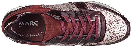 Marc Shoes Raven, Baskets Basses Femme Rouge - Rot (Bordo-combi 00162)