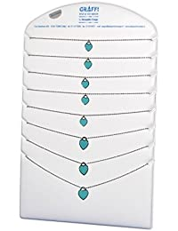 cadena de la joyería del corazón del acero esmaltado C07880 joyas y bisutería