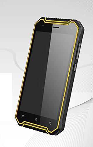 5 Zoll wasserdichtes Telefon P8 Android Handy 4G Netz-RAM 2GB + 16GB Doppel-SIM Smartphone Fingerabdruck-Anerkennung NFC (Gelb)