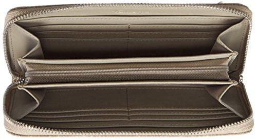 Tamaris - Estelle Big Zipped Around Wallet, Portafoglio Donna Beige (taupe Snake)