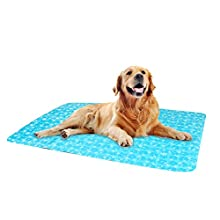 Umi. Pet Dog Animal Multi-Functional Soft Cooling Mat, Cool Pad, Comfortable for Summer Sleeping Rest, Large