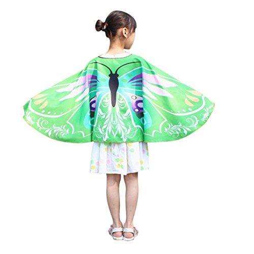 Jungen Mädchen Karneval Kostüm Faschingskostüme schmetterlingsflügel Kimono Flügel Schal Cape Tuch Pashmina Kostüm Zubehör Butterfly Wing Cape (Cheshire Cat Kostüm Kinder Jungen)
